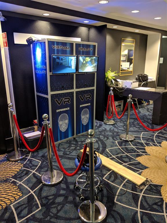virtual reality pod experience hire