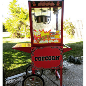 Popcorn Machine Hire with Cart